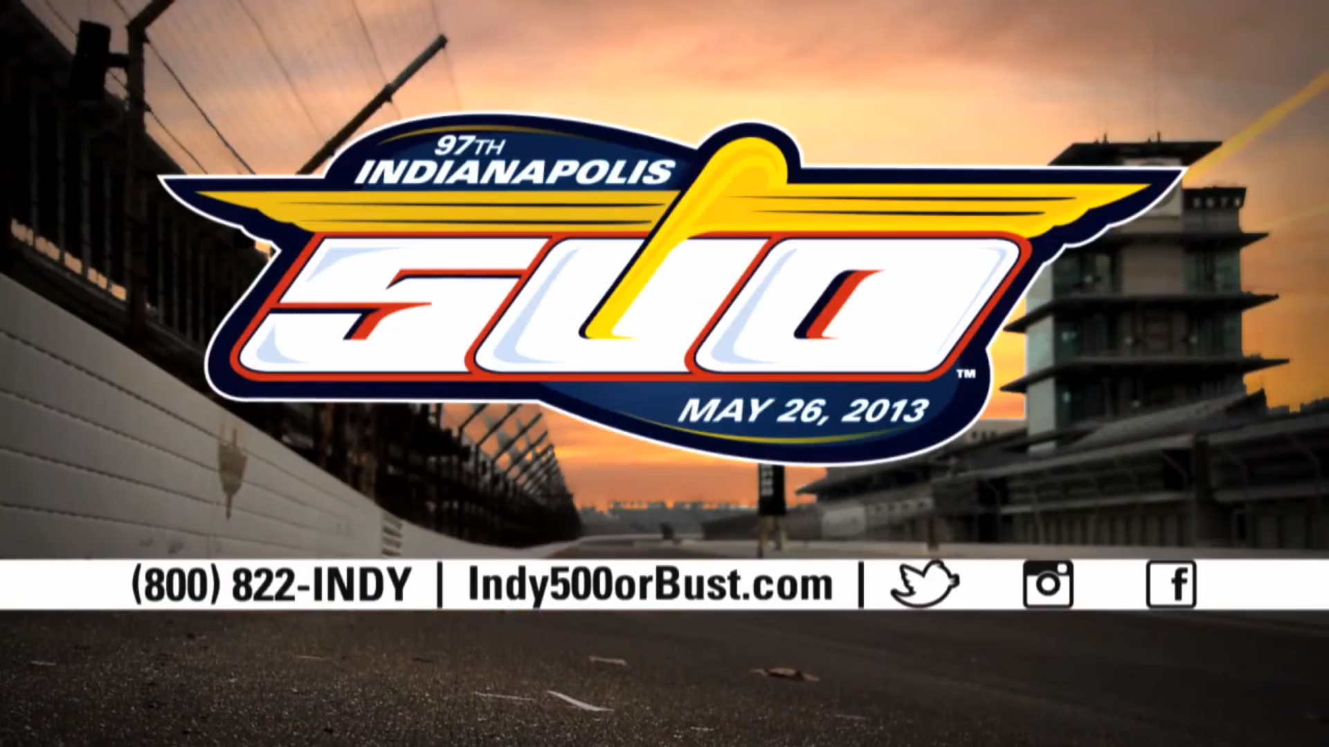 #Indy500orBust Ticket Commercial